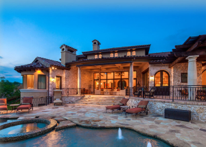 outdoor living pool water features