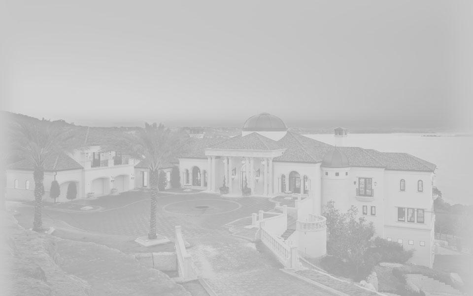 Italian villa grayscale photo