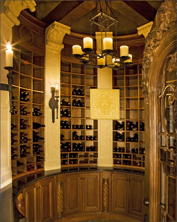 villa wine room